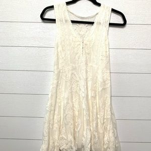 Free People Cream Lace Sleeveless Dress Size XS